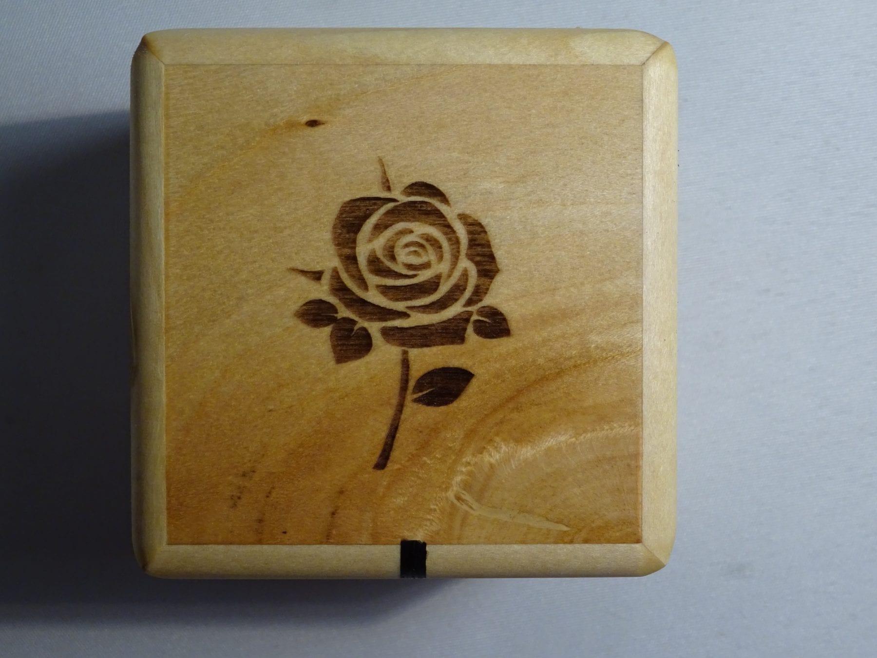17. Rose engraving