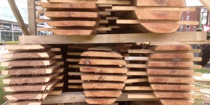 シティウッドアムステルダム。 都市からの木材。