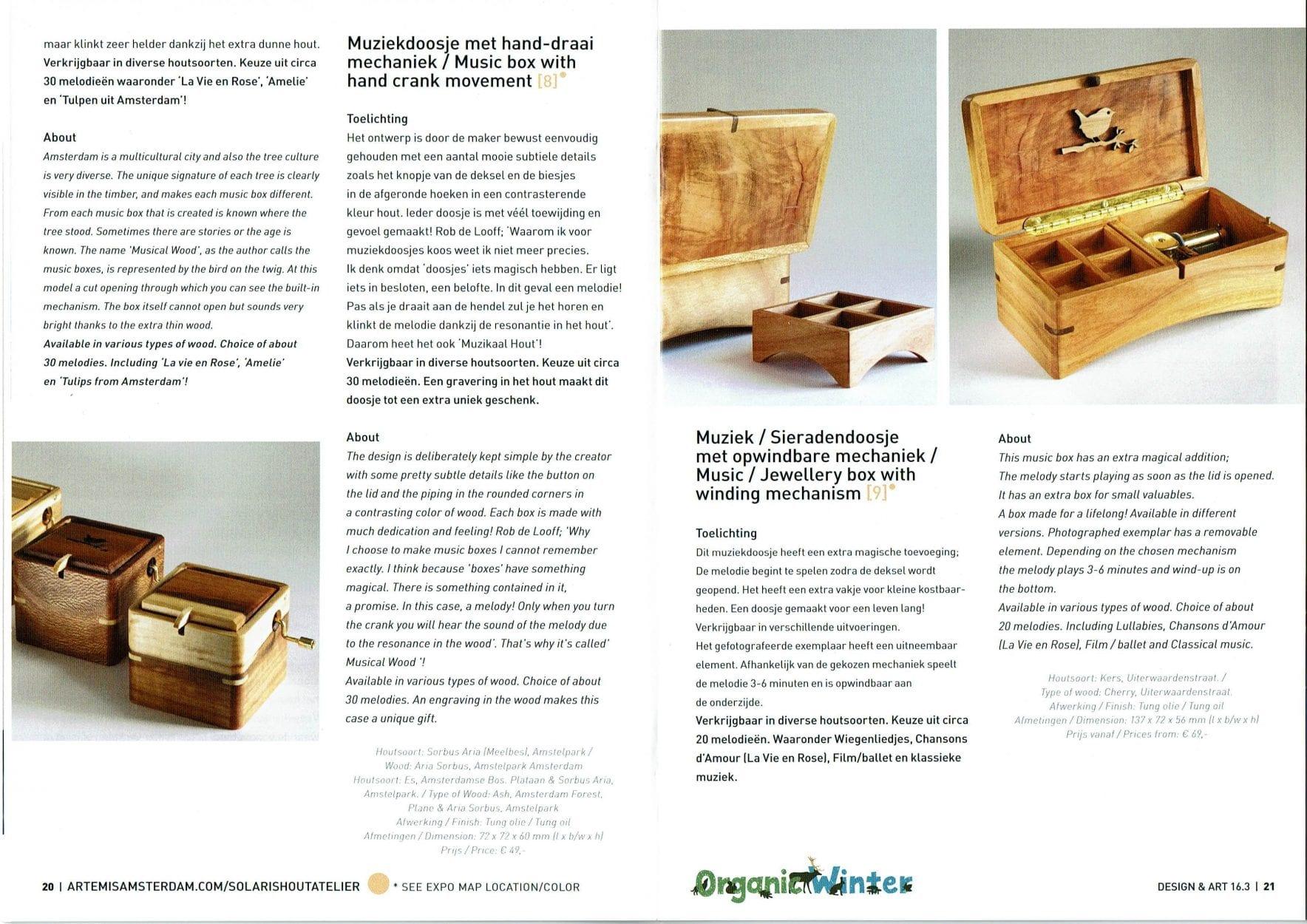 Dutch Design Hotel Expo Music Boxes