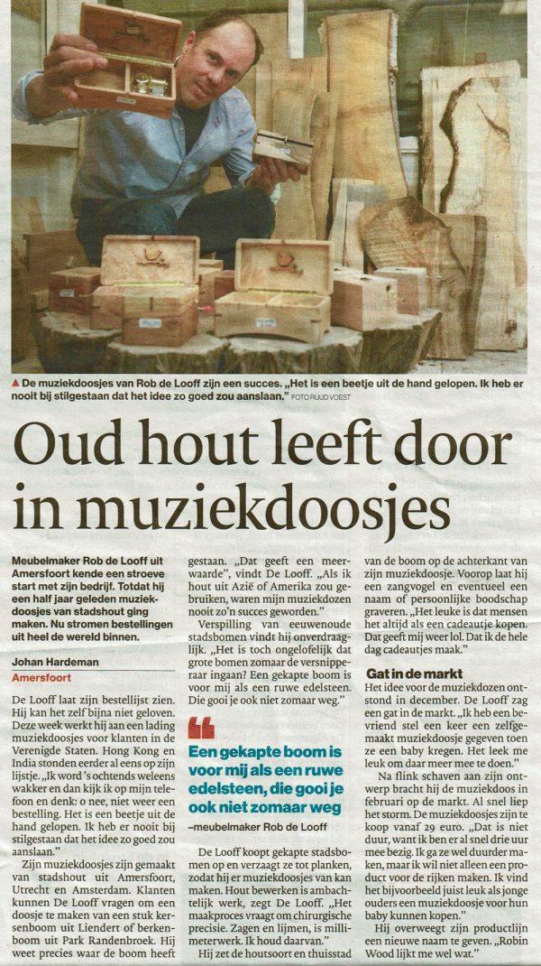 Muziekdoosjes Algemeen Dagblad
