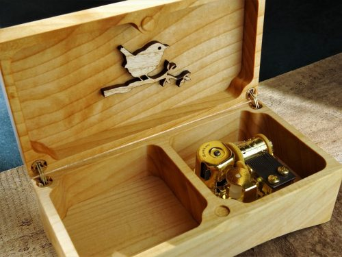 music box made of wood