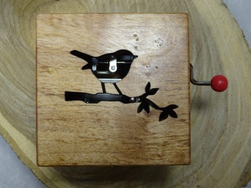 music box with bird