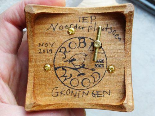 Music box from city wood Groningen