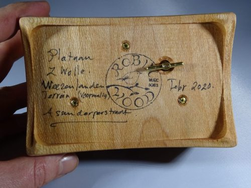 Music box made of wood from Zolle