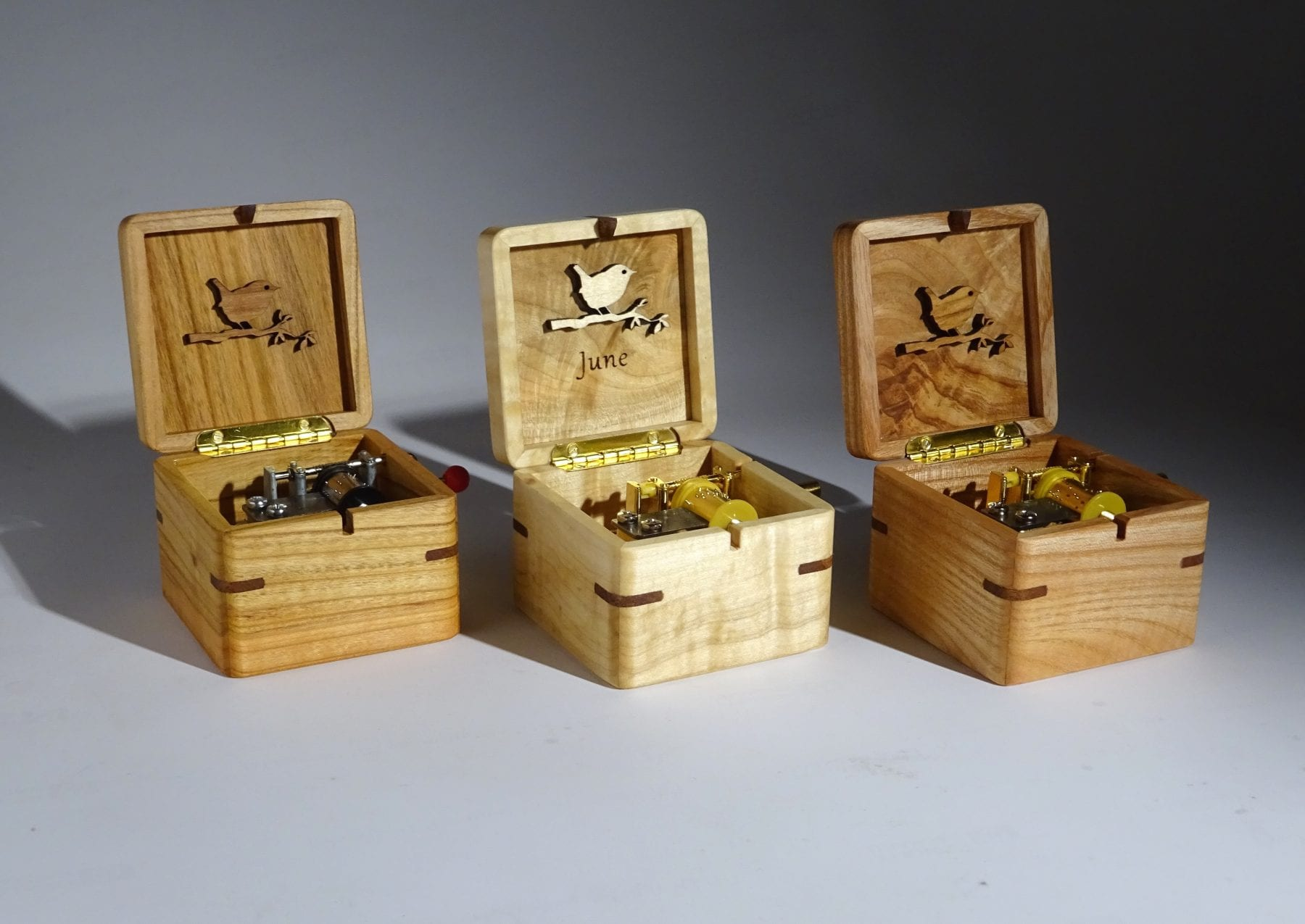 Music boxes made of wood