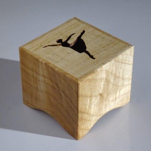 Music box of wood with ballerina