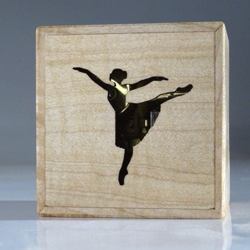 Wooden music box with Ballerina Wooden music box with Ballerina
