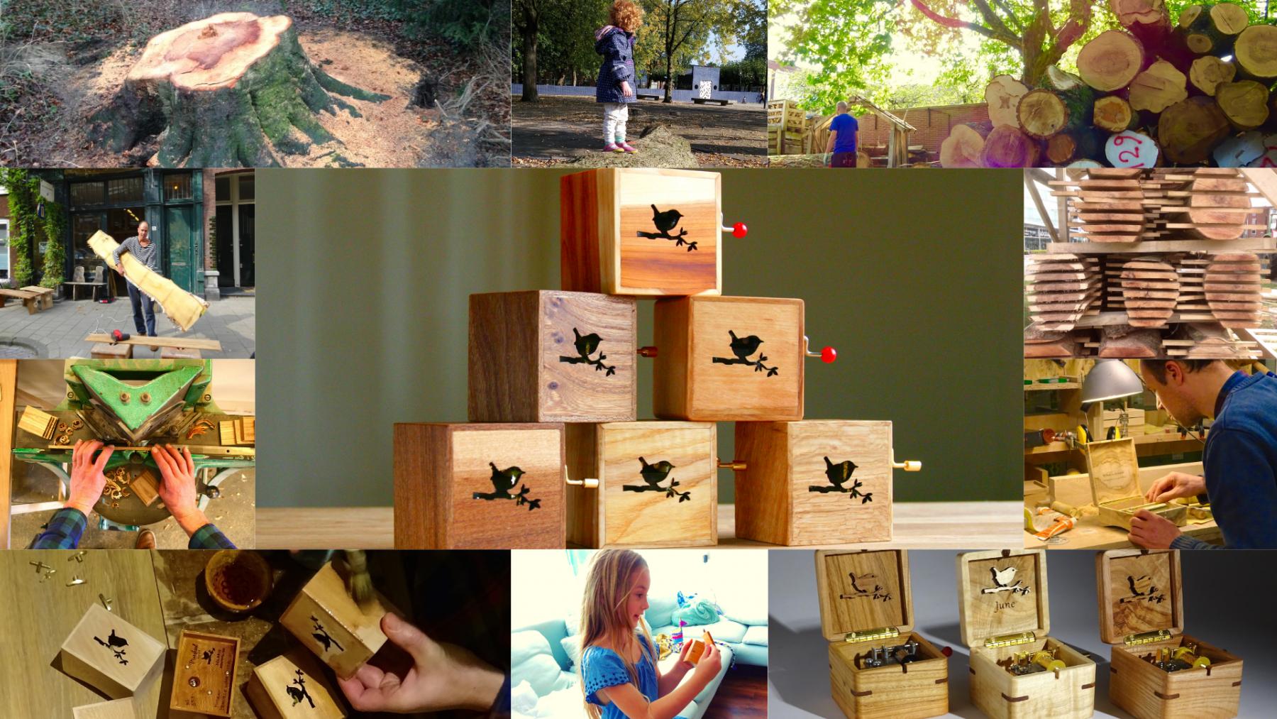 Cajas de música Robin Wood