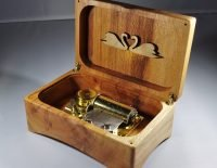 Music box Blackbird with Nocturno Chopin (luxury mechanism 36 tones). Plane tree from Zwolle