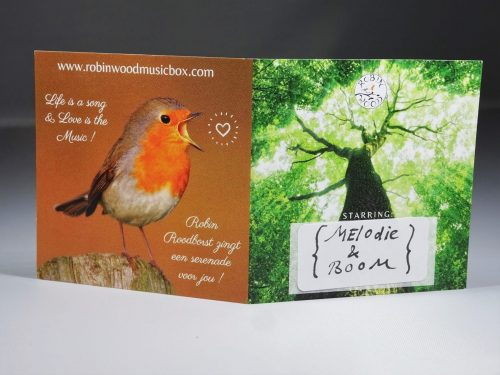 Robin Wood music box card