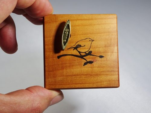 music box pear wood