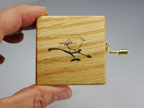 oak music box