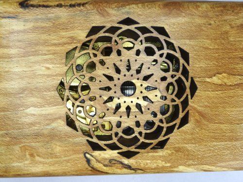 mandala cutout blackbird