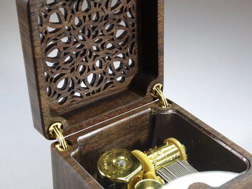 music box walnut
