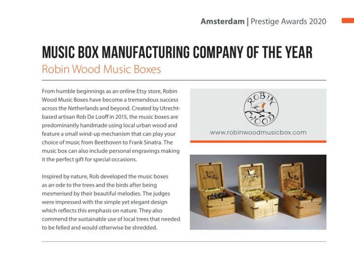 Music Box Company of the year