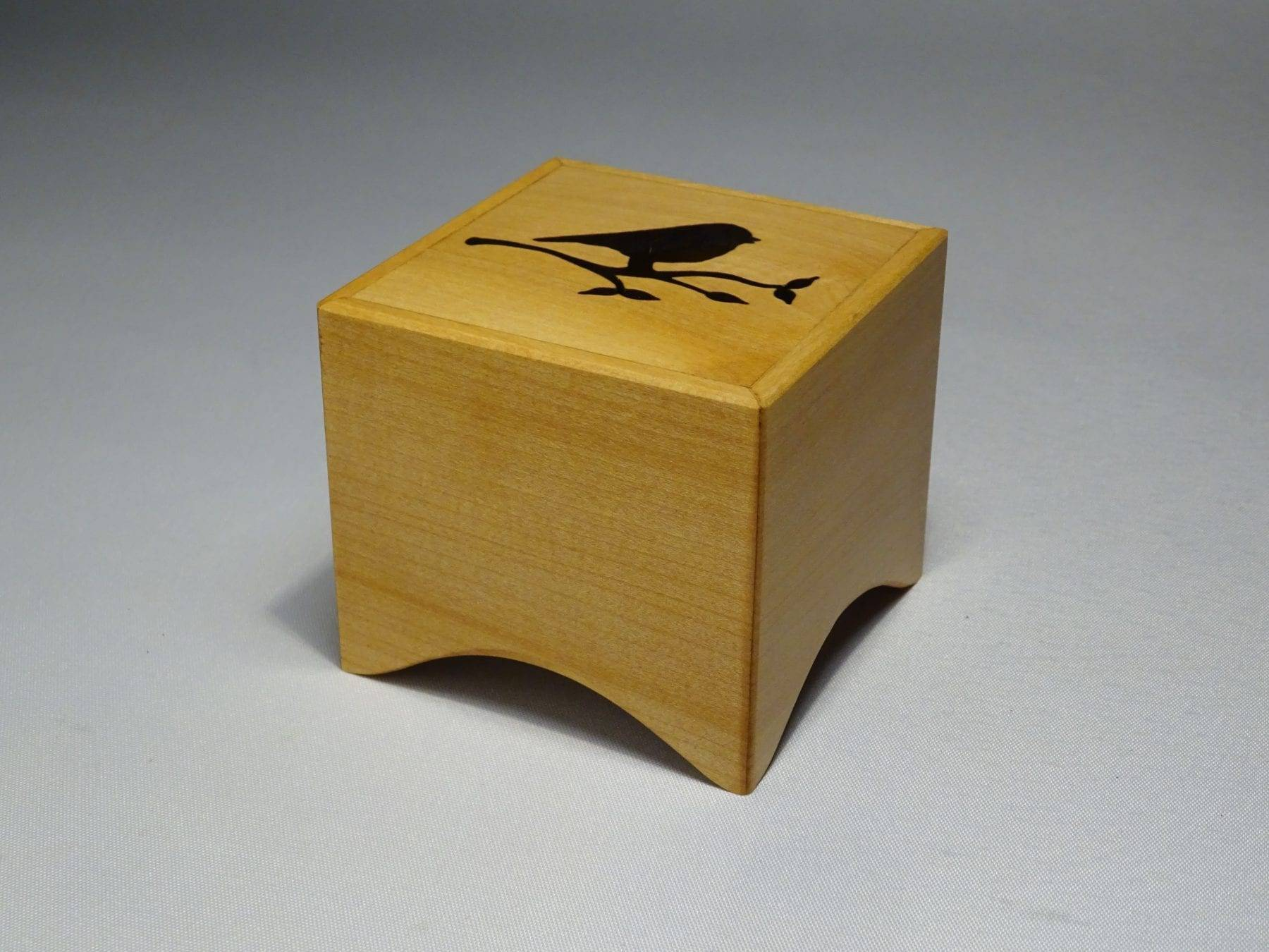 Small music box made of wood